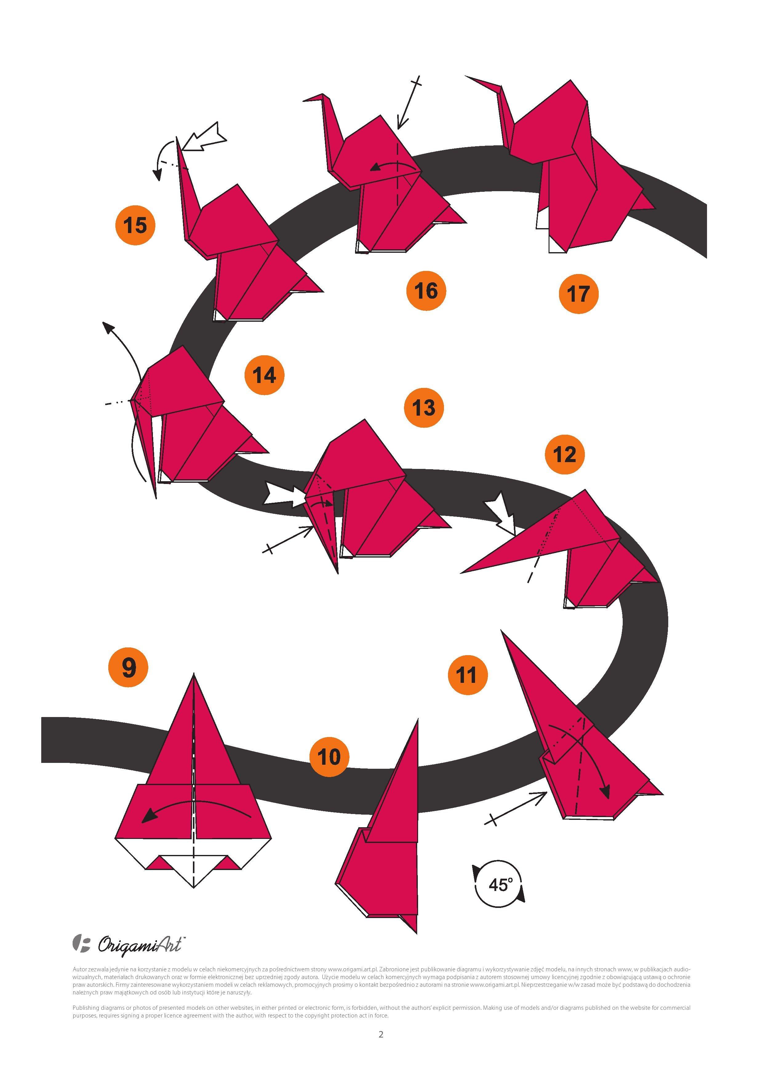 Słoń 2 - tradycyjny model origami
