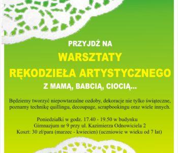 Warsztaty rękodzieła artystycznego Kraków
