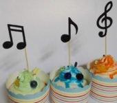 Urodziny muzyczne ciasteczka