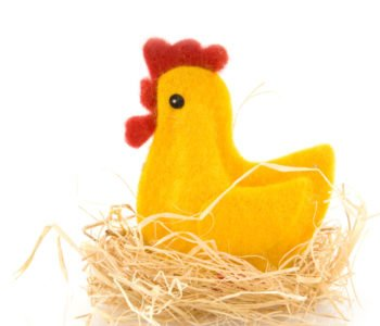 jak zrobić kurczaki z filcu na Wielkanoc
