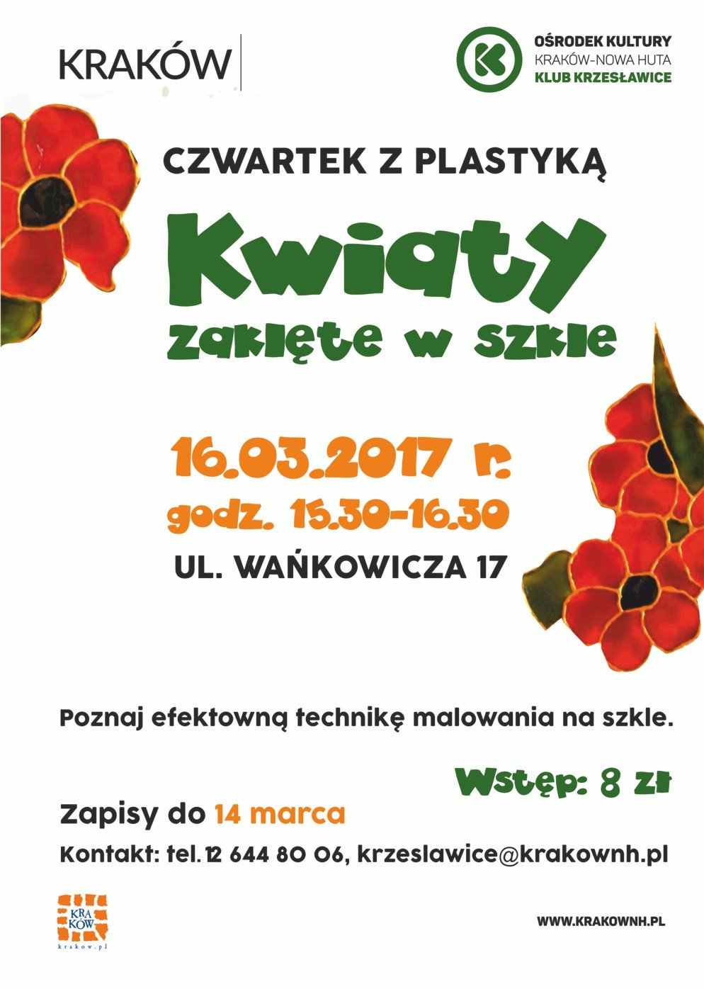 Czwartek z plastyką: Kwiaty zaklęte w szkle