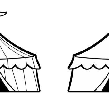 Namiot cyrkowy kolorowanka