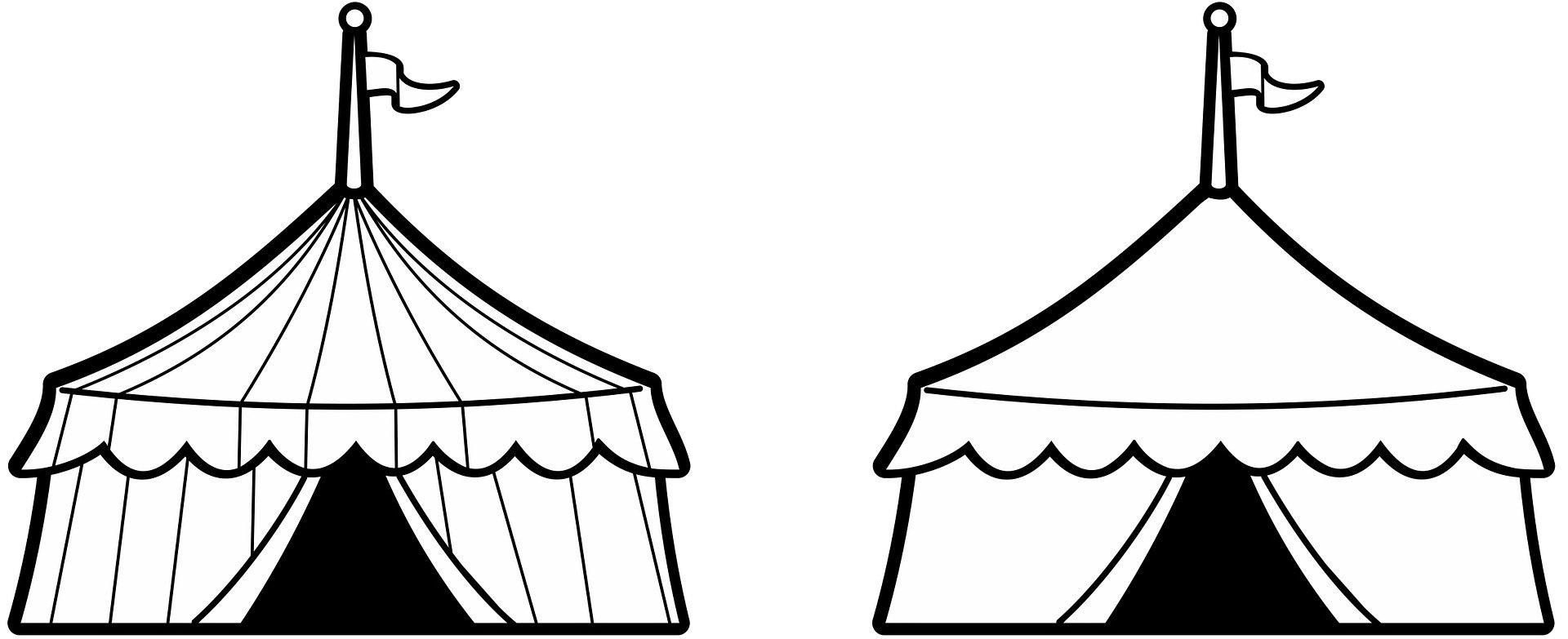 Kolorowanka Cyrkowy Namiot