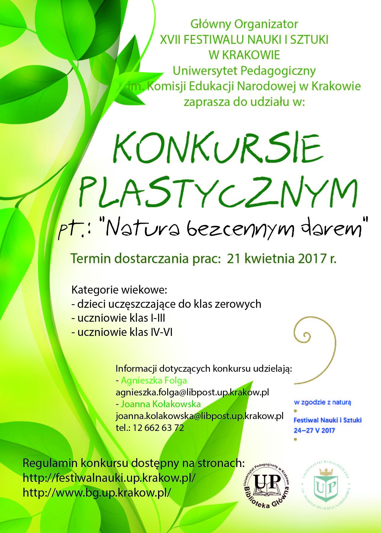 konkurs plastyczny - Natura bezcennym darem