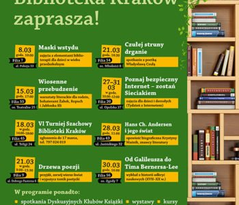 Moc wydarzeń w Bibliotece Kraków w marcu