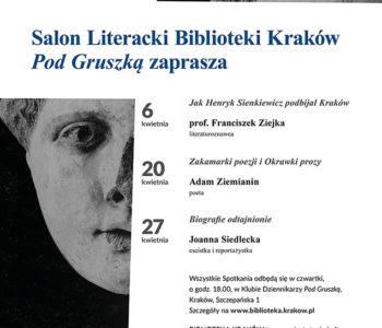 Salon Literacki Biblioteki Kraków inauguruje działalność