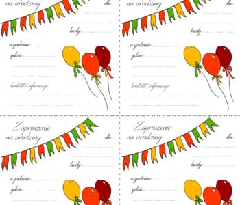 zaproszenie na urodziny do druku