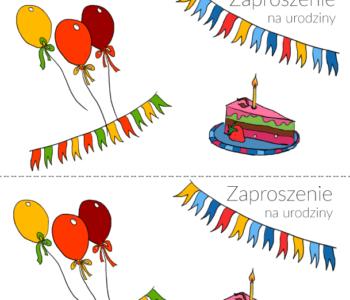 Zaproszenie na urodziny do wydrukowania