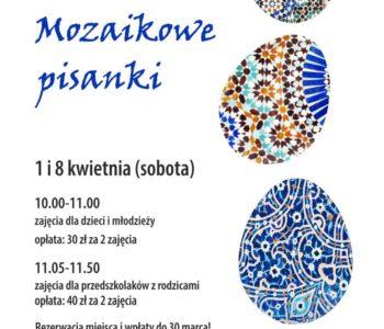 Mozaikowe pisanki – Wielkanocne warsztaty ceramiki