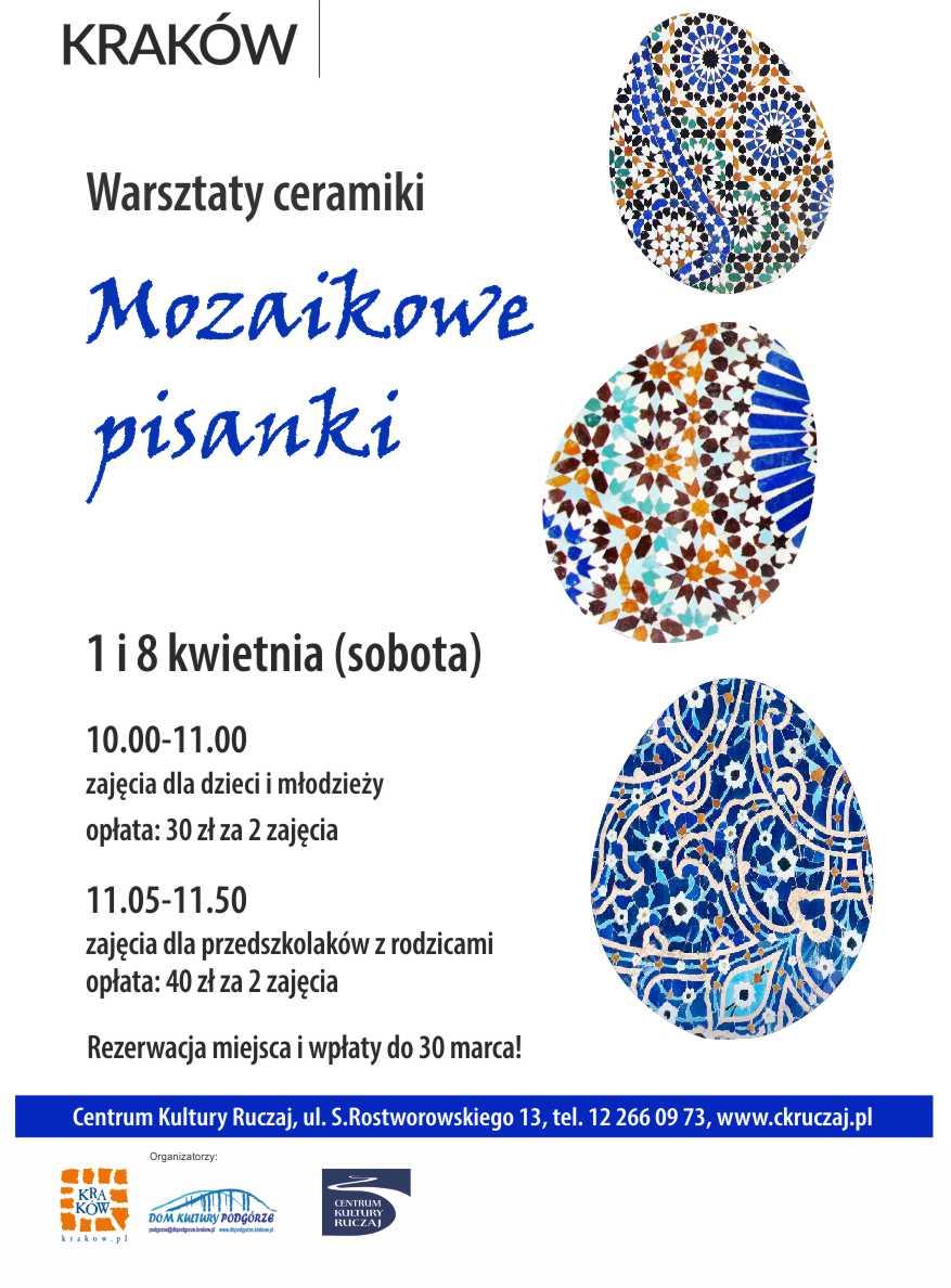 Mozaikowe pisanki - Wielkanocne warsztaty ceramiki