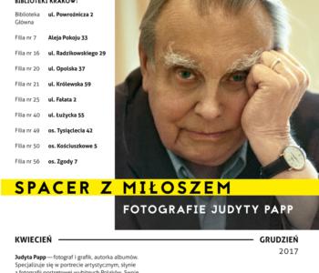 Spacer z Miłoszem. Fotografie Judyty Papp - wystawa w Bibliotece Kraków
