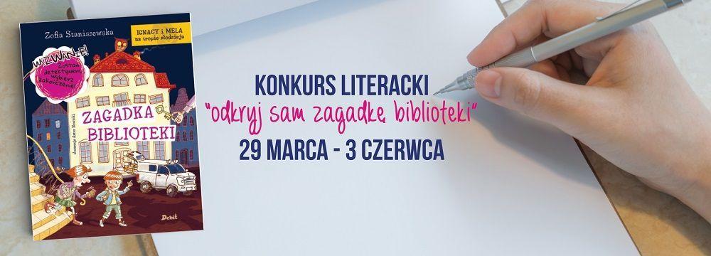 Konkurs literacki zagadki biblioteki