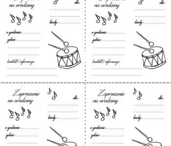 Muzyczne urodziny pobierz zaproszenie