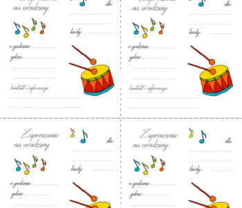 Urodziny muzyczne zaproszenie do druku
