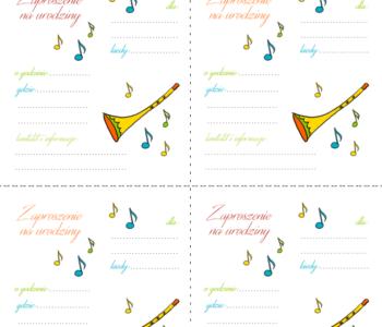Urodziny muzyczne szablony zaproszeń