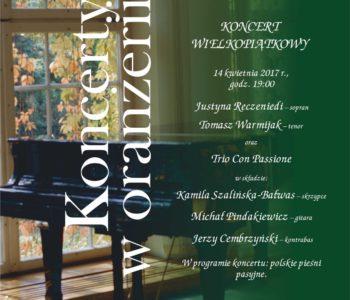 plakat koncert Wielkopiątkowy Muzeum