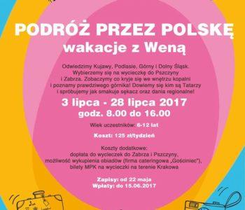 Lato w Klubie Kultury Wena! Podróż przez Polskę. Zapisy
