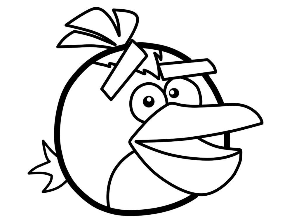 Malowanka dla dzieci Angry Birds