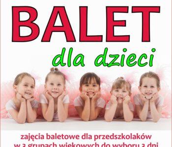 Balet dla przedszkolaków i starszych dzieci w Nutka Cafe
