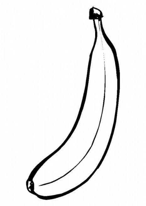 banan kolorowanka dla dzieci owoce