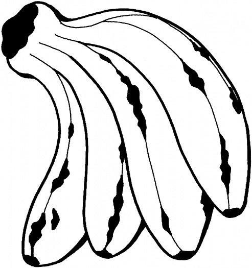 Banany kolorowanka do druku