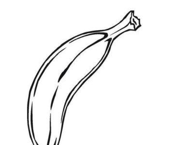 banan kolorowanka dla dzieci do druku