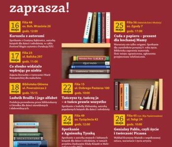 W maju Biblioteka Kraków nie zwalnia tempa