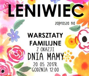 Prezent na Dzień Mamy - warsztaty w Cafe Leniwiec