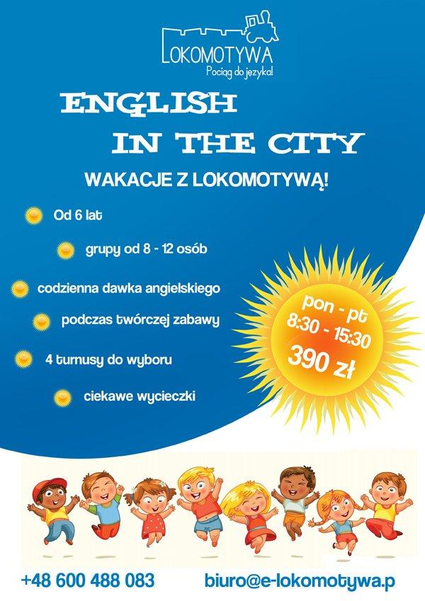English in the city: Wakacje i angielski! Zapisy