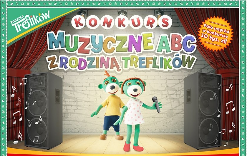 konkurs muzyczny dla dzieci piosenki z rodzina Treflików