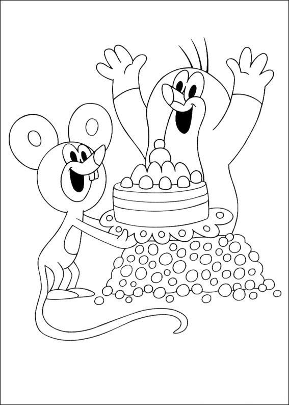Krecik i myszka kolorowanka dla dzieci