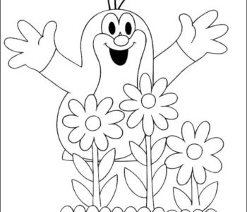 Krecik i kwiatki