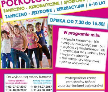 Półkolonie letnie dla dzieci 6-13 lat w  Studio Tańca reAKTYWACJA