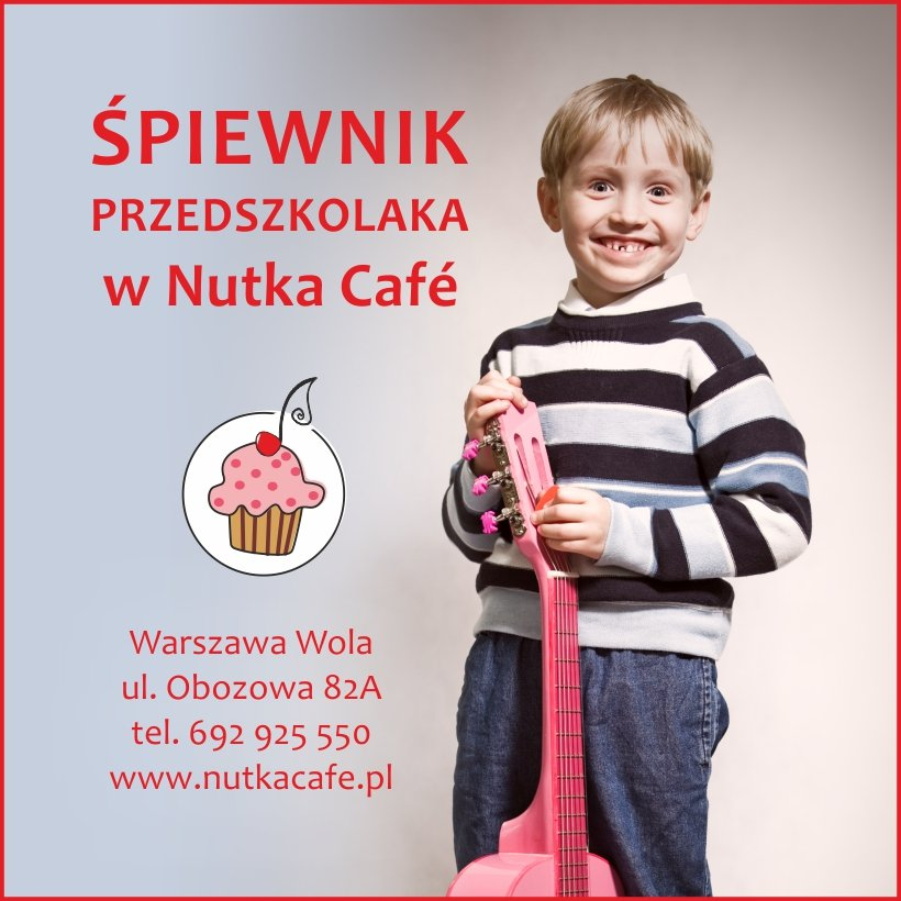 Śpiewnik Przedszkolaka w Nutka Cafe - bezpłatne zajęcia