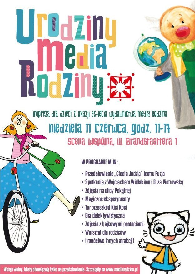 Urodziny Wydawnictwa Media Rodzina atrakcje dla dzieci w Poznaniu