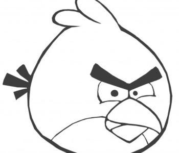Angry Birds kolorowanka dla dzieci red czerwony