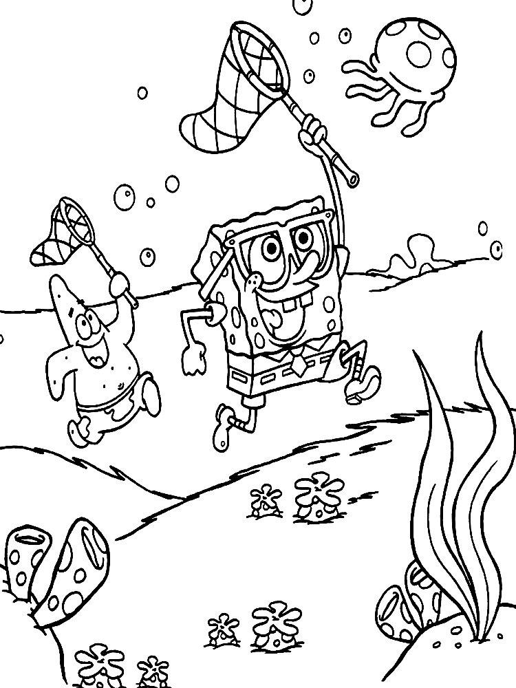 Kolorowanka Spongebob Do Druku Malowanki Z Bajki Dla Dzieci