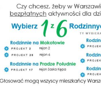 Zagłosuj na bezpłatne zajęcia dla dzieci w Budżecie Partycypacyjnym Warszawy!
