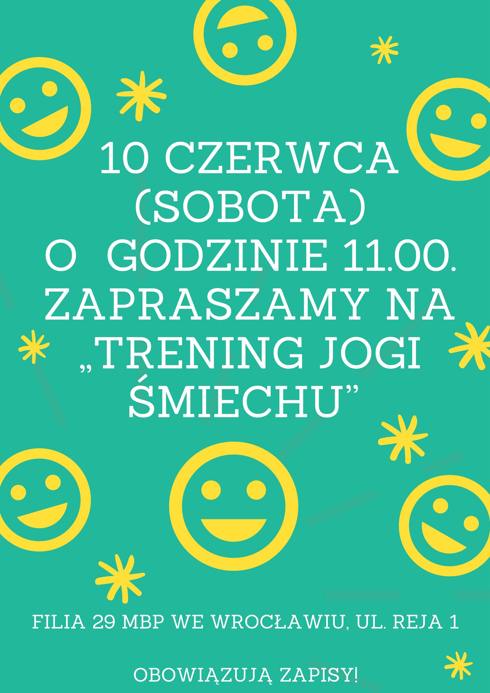Trening Jogi śmiechu - bezpłatne warsztaty dla rodziców