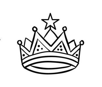 Korona księżniczki kolorowanka do wydruku