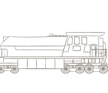 lokomotywa kolorowanka dla dzieci do druku