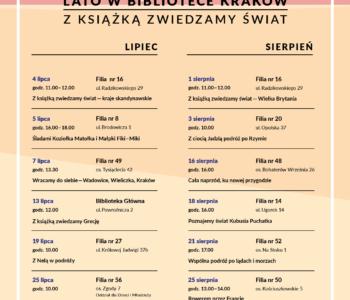W lipcu i sierpniu w Bibliotece Kraków z książką zwiedzamy świat!