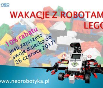 Wakacyjne warsztaty z robotyki. Uwaga: rabat 10% do 26 czerwca!