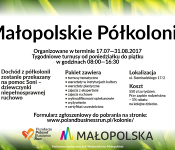 Małopolskie Półkolonie – czyli jak można pomóc dzięki zabawie i nauce