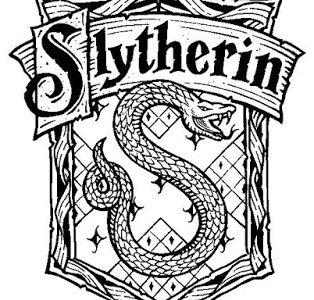 Malowanka Harry Potter Slytherin, kolorowanki do druku
