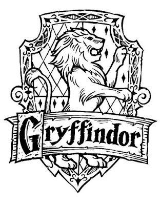 kolorowanka do druku Harry Potter Gryffindor
