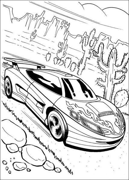 Kolorowanka Hot Wheels Malowanki Samochody Dla Chlopcow Do Druku