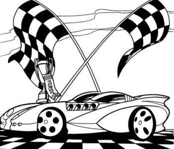 Hot Wheels kolorowanka do druku dla chłopców