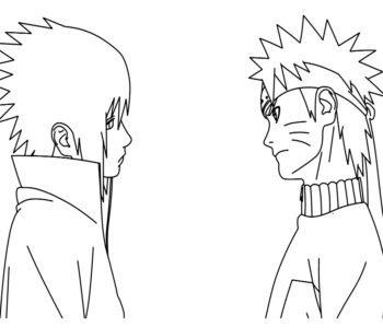 Naruto z bajki kolorowanka do druku dla chłopców