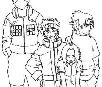 Kolorowanki Naruto i przyjaciele